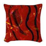 Heart of Fire Woven Throw Pillow