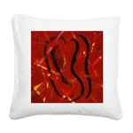 Heart of Fire Square Canvas Pillow