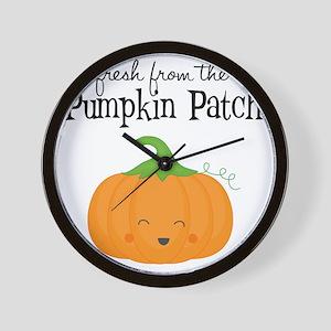 Fresh from the Pumpkin Patch Wall Clock