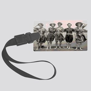 Vintage Bathing Beauties Shoulde Large Luggage Tag