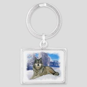 Wolf Landscape Keychain