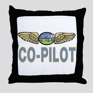 RV Co-Pilot Throw Pillow