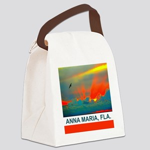 Bright sunset over Anna Maria Isl Canvas Lunch Bag
