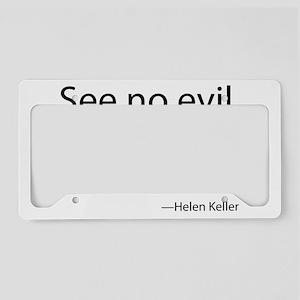 See no evil. Hear no evil. Sp License Plate Holder