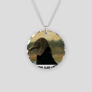 ancient vulture Necklace Circle Charm