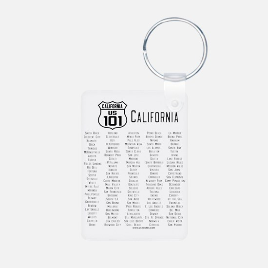 US Route 101 California Ci Keychains