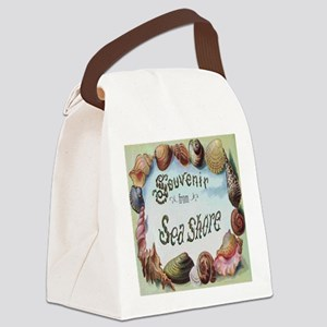 Vintage Seashore Souvenir Shower  Canvas Lunch Bag