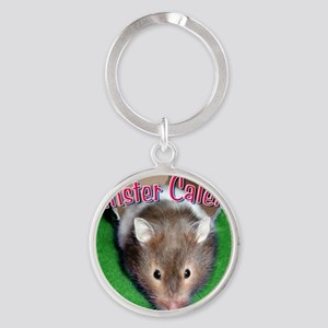 Hamster Wall Calendar Round Keychain