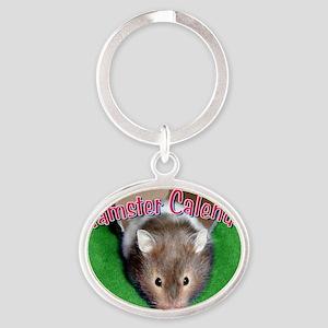 Hamster Wall Calendar Oval Keychain