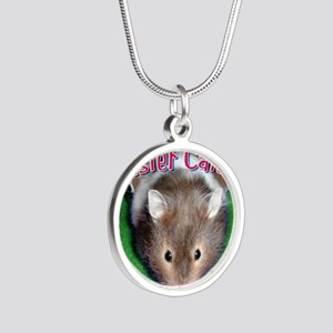 Hamster Wall Calendar Silver Round Necklace