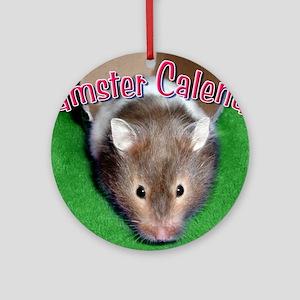 Hamster Wall Calendar Round Ornament