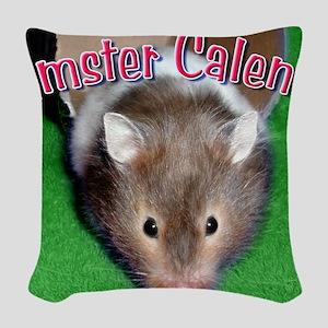Hamster Wall Calendar Woven Throw Pillow