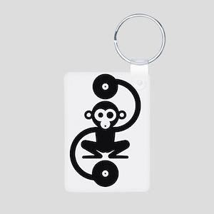 Monkey Music Aluminum Photo Keychain