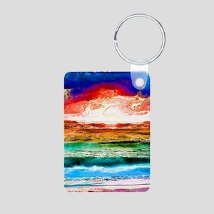 Rainbow tide Aluminum Photo Keychain