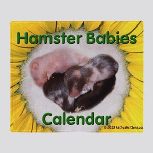 Hamster Babies Wall Calendar Throw Blanket