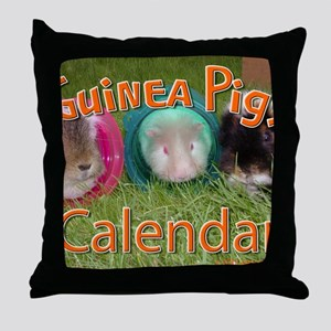 Guinea Pigs #2 Wall Calendar Throw Pillow