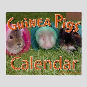 Guinea Pigs #2 Wall Calendar Throw Blanket