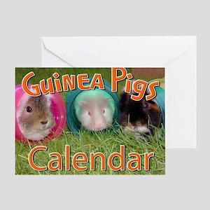 Guinea Pigs #2 Wall Calendar Greeting Card