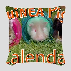 Guinea Pigs #2 Wall Calendar Woven Throw Pillow