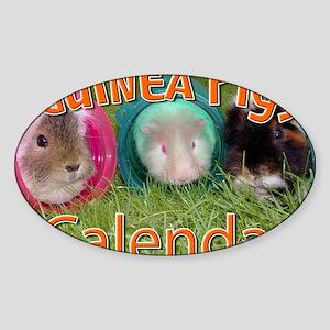 Guinea Pigs #2 Wall Calendar Sticker (Oval)