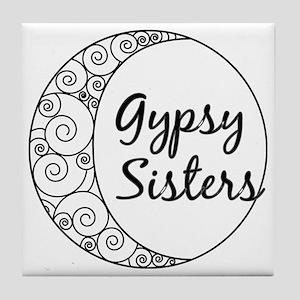 Gypsy Sisters White Logo Tile Coaster
