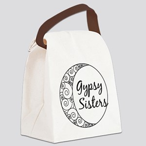 Gypsy Sisters White Logo Canvas Lunch Bag