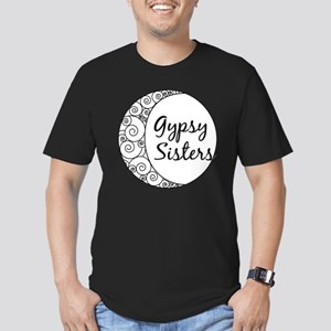 Gypsy Sisters White Lo Men's Fitted T-Shirt (dark)