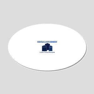 Genealogy Addict 20x12 Oval Wall Decal