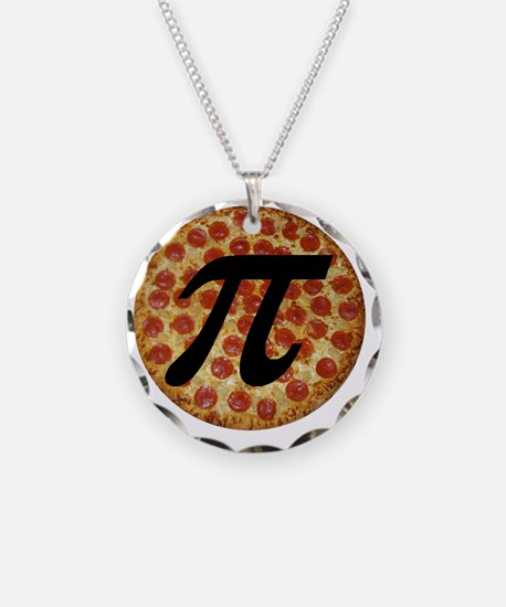 Pizza Pi Necklace Circle Charm