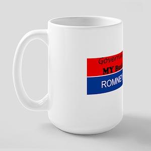 Govt Didnt build my business, Romney Large Mug