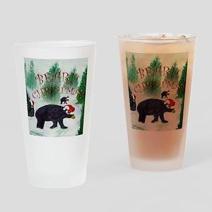 Beary Christmas Drinking Glass