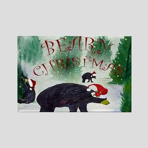 Beary Christmas Rectangle Magnet