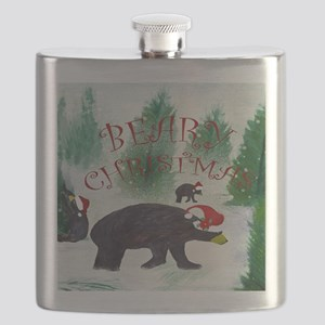 Beary Christmas Flask
