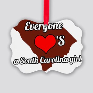 Everyone loves a South Carolina g Picture Ornament