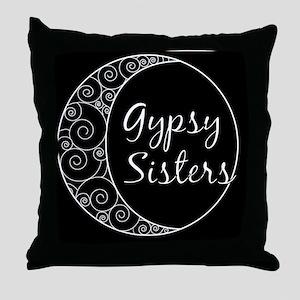 Gypsy Sisters Black Logo Throw Pillow