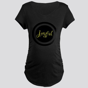Joyful  Maternity Dark T-Shirt