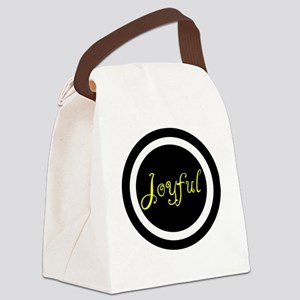 Joyful  Canvas Lunch Bag