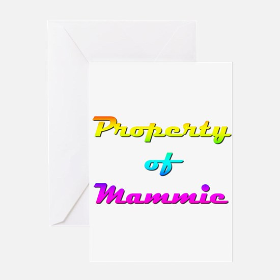 Property Of Mammie Female Greeting Card