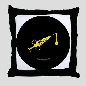 Hypo-Derrick (Yellow/Black) Throw Pillow