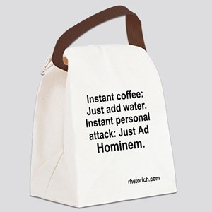 ad Hominem Canvas Lunch Bag