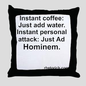 ad Hominem Throw Pillow