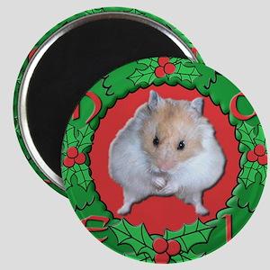 Hamster Noel Wreath Magnet