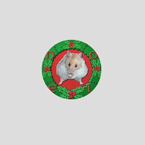 Hamster Noel Wreath Mini Button