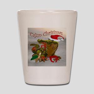 Cajun Christmas Shot Glass