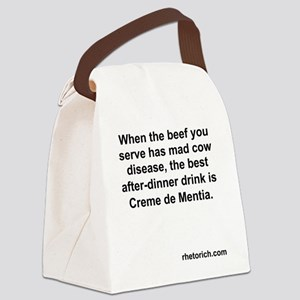 Mad Cow Disease Canvas Lunch Bag