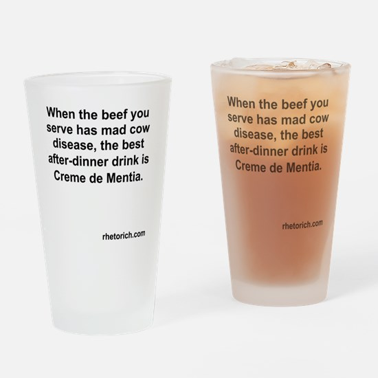 Mad Cow Disease Drinking Glass