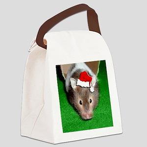 Santa Hamster #1 Canvas Lunch Bag