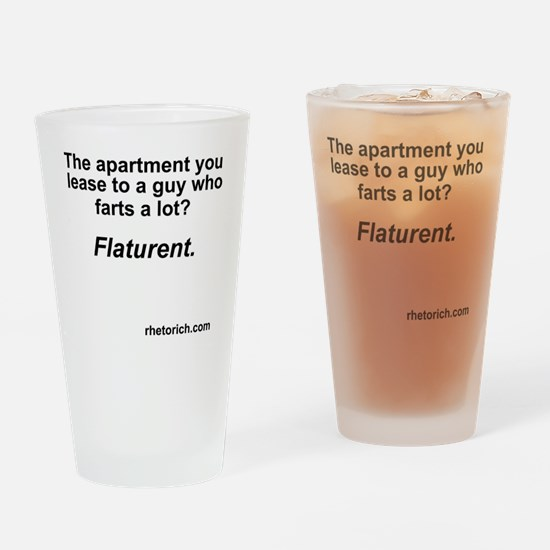 Farts a Lot Drinking Glass
