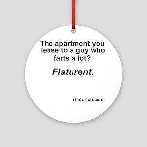 Farts a Lot Round Ornament