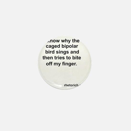 Bipolar Bird Mini Button